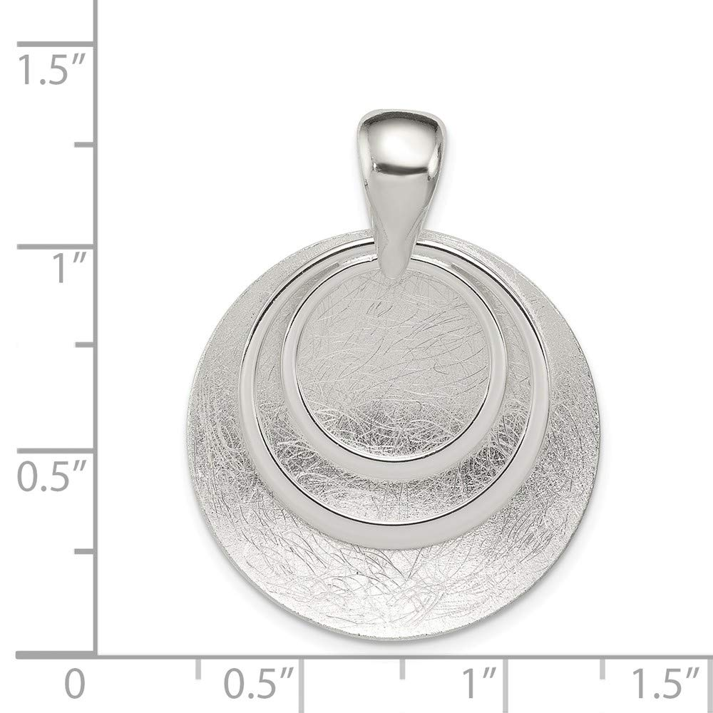 Jewel Tie Sterling Silver Polished /& Textured Circle Pendant