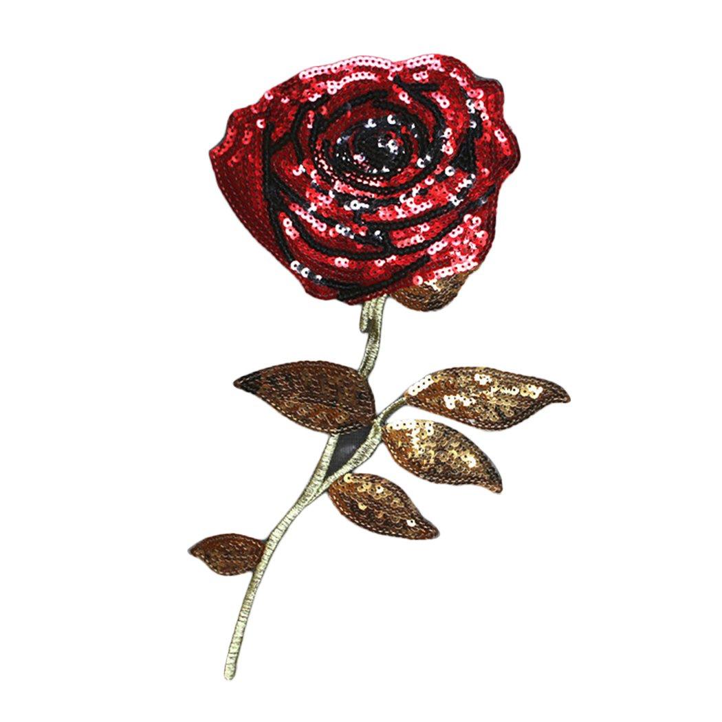 Zoylink Parches De Flores Rosa Apliques Ropa Patch Rose Bordado ...