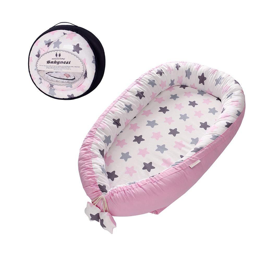 Eternitry Nido portátil Transpirable Suave sillón reclinable para bebés Cuna portátil súper Suave y Transpirable recién Nacido