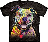 The Mountain Beware Of Pit Bulls Adult T-Shirt, Black, Medium