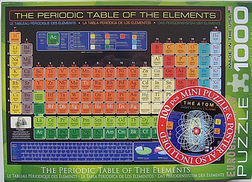 EuroGraphics The Periodic Table of the Elements 1000 Piece J