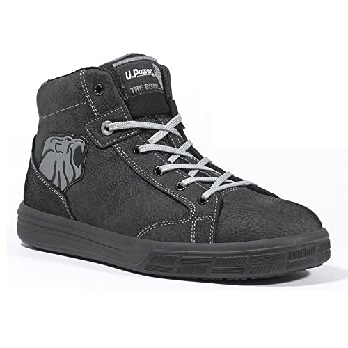Upower - Calzado de Protección Para Hombre Negro Negro, Color Negro, Talla 42 EU
