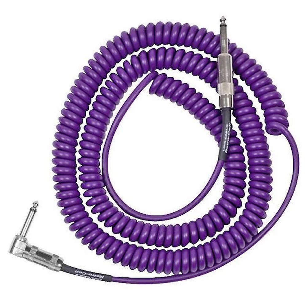 Lava Cable Retro Coil Right Angle to Straight, 20', Metallic Purple