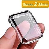Coque Apple Watch Series 2, Toeoe iWatch Coque Housse Tout autour Protecteur d'écran de Protection TPU 0.3mm Case Shell Ultra Mince pour iWatch (Series 2 38mm)