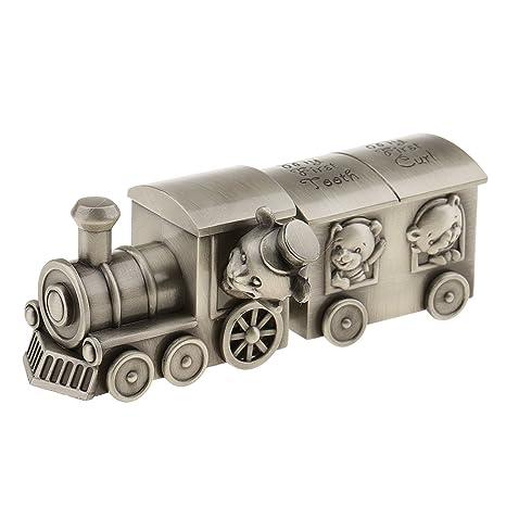 Cute Train Bear Baby Kids Curl Tooth Box Save Box Keepsake Baby Shower Gifts