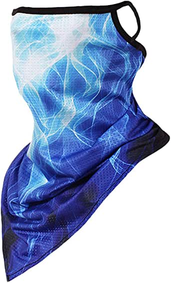 Stoota Face Mask with Ear Hangers, Cooling Neck Gaiter, Scarf, Bandana, Summer Balaclava for Dust Wind UV Protection