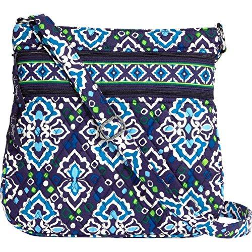 Vera Bradley Triple Zip Hipster Cross-body Bag (Ink Blue)