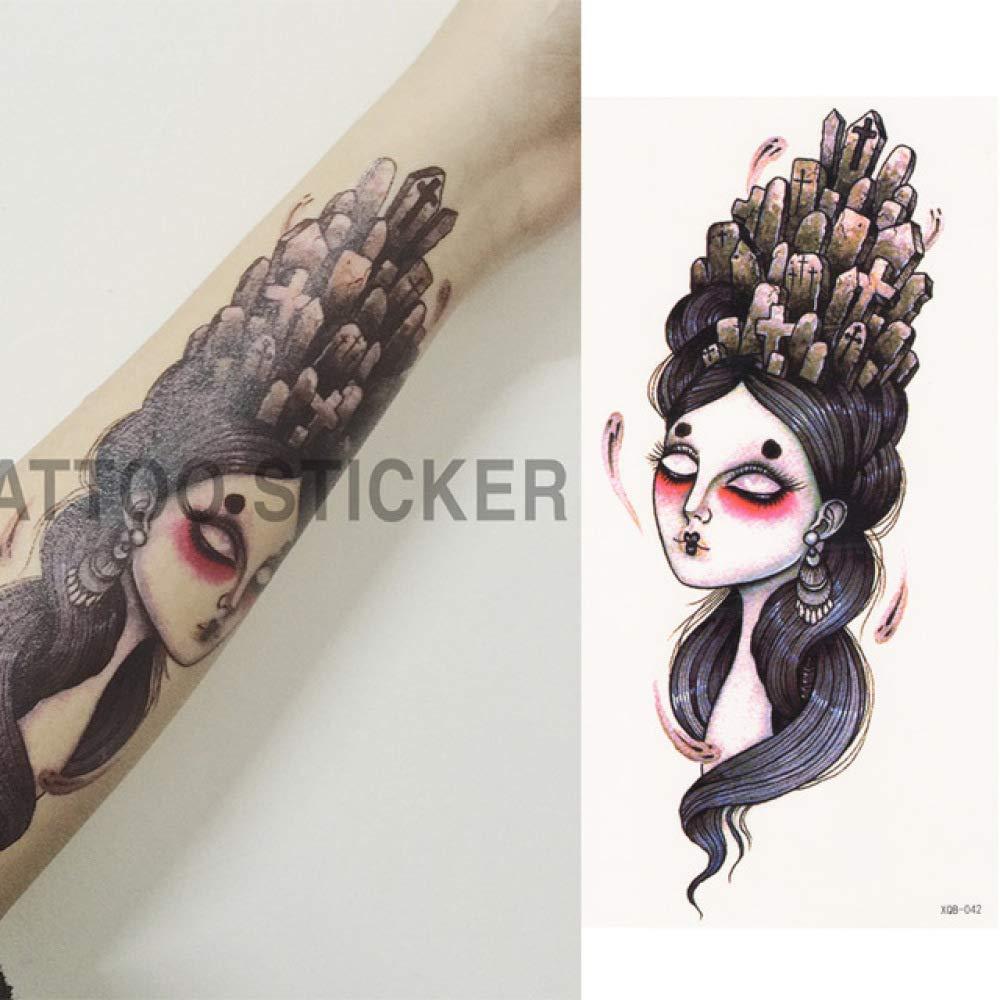 Handaxian Floral 3pcs Acuarela Muslo Cuerpo de Hombro Tatuaje en ...