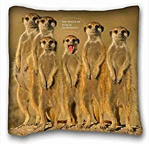 """Custom Characteristic Animal DIY Pillow Cover Size 16""""X16"""" suitable for Twin-bed"""