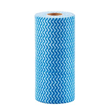 Absorbent Kitchen Dish Towels Hand Towel Dishcloth Disposable Towel   Blue