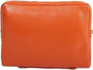 Gérard Henon - Bolso de asas de Piel Lisa para hombre, Naranja (naranja), talla única