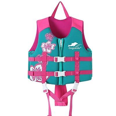 Kids' Swim Vest Toddler Floatation Jacket Girls Neoprene Buoyancy Swimwear Learn to Swim Devices, 3-5 Years : Baby