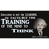 Albert Einstein Education Poster | 12-Inches By 18-Inches | Inspirational & Motivational Poster | JSC101