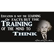 Albert Einstein Education Poster | 12-Inches By 18-Inches | Inspirational Motivational Educational Classroom | JSC101