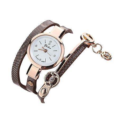 HULKY - Reloj de pulsera para mujer, correa de metal, diseño ...