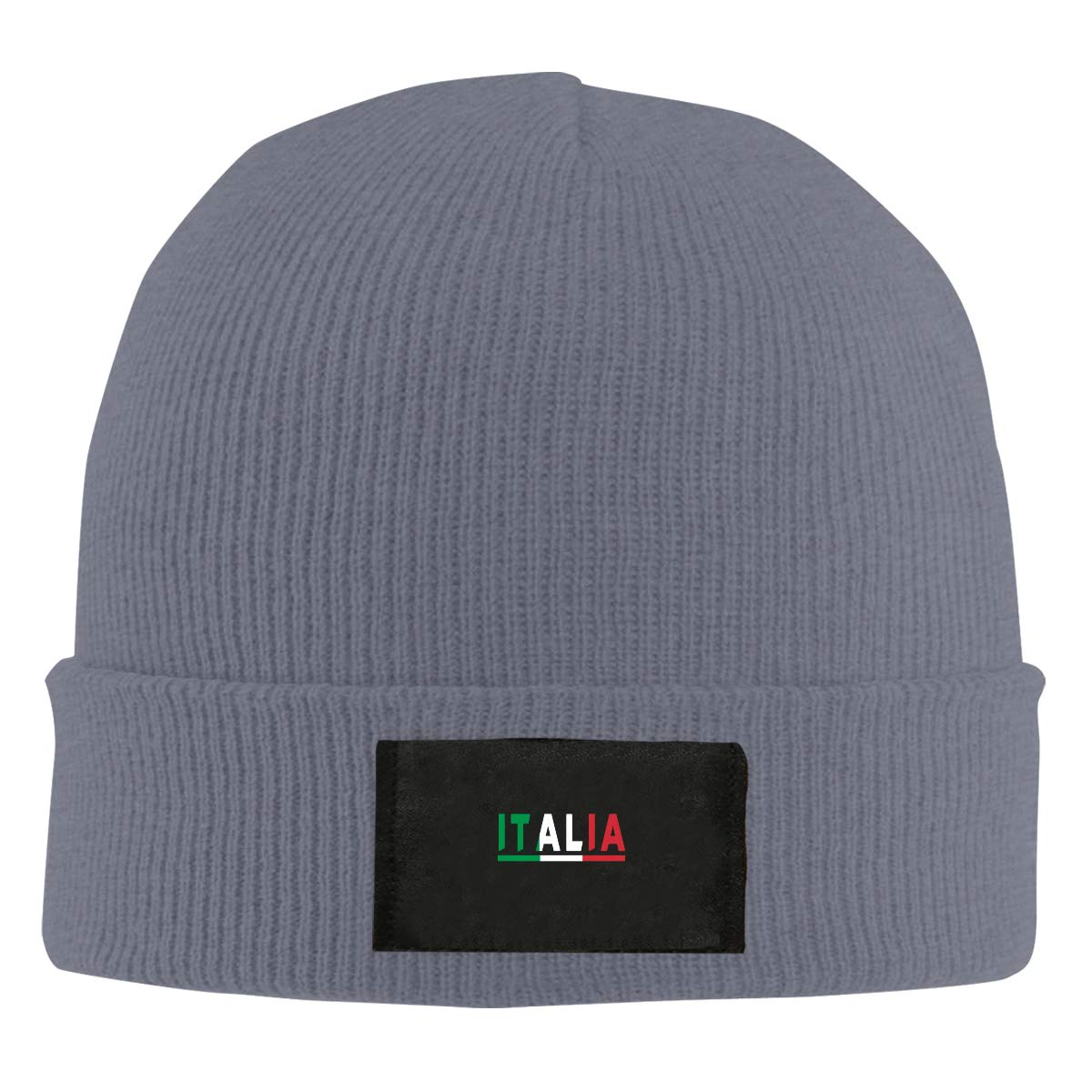 LRHUI Italian Flag Winter Knitted Hat Warm Wool Skull Beanie Cap