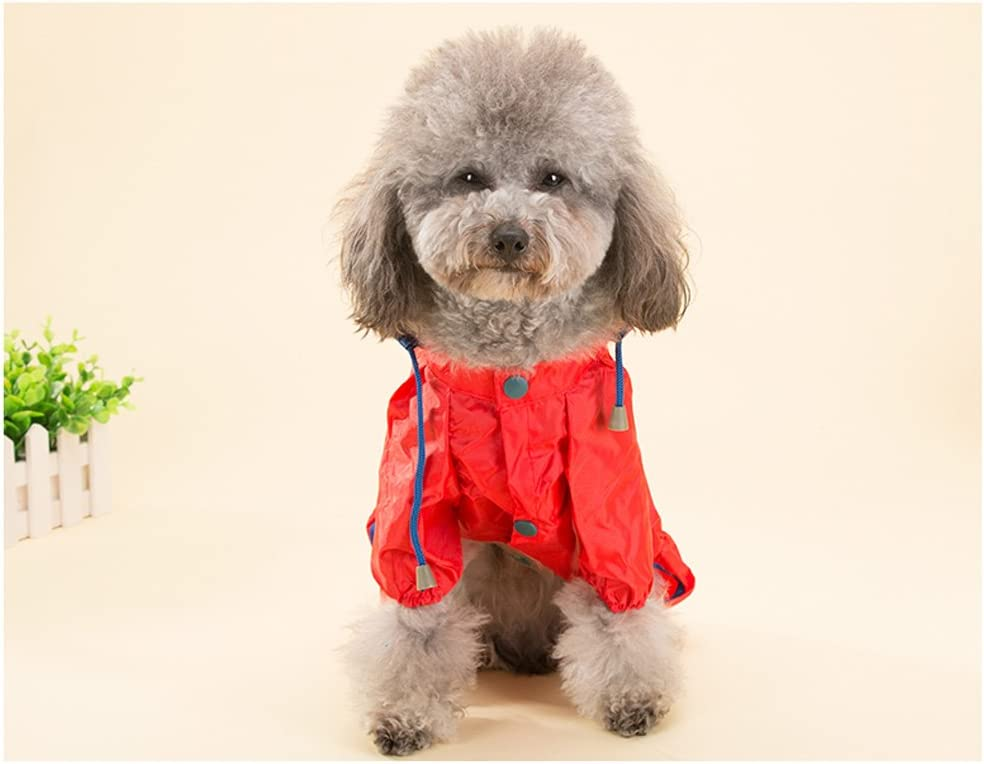 Topsung Dog Raincoat Waterproof Puppy Jacket Pet Rainwear Clothes for Small Dogs//Cats Orange