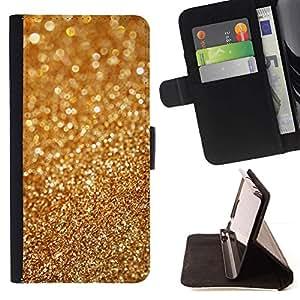 Momo Phone Case / Flip Funda de Cuero Case Cover - Polvo de oro Bling borrosa brillante del metal - Samsung Galaxy E5 E500