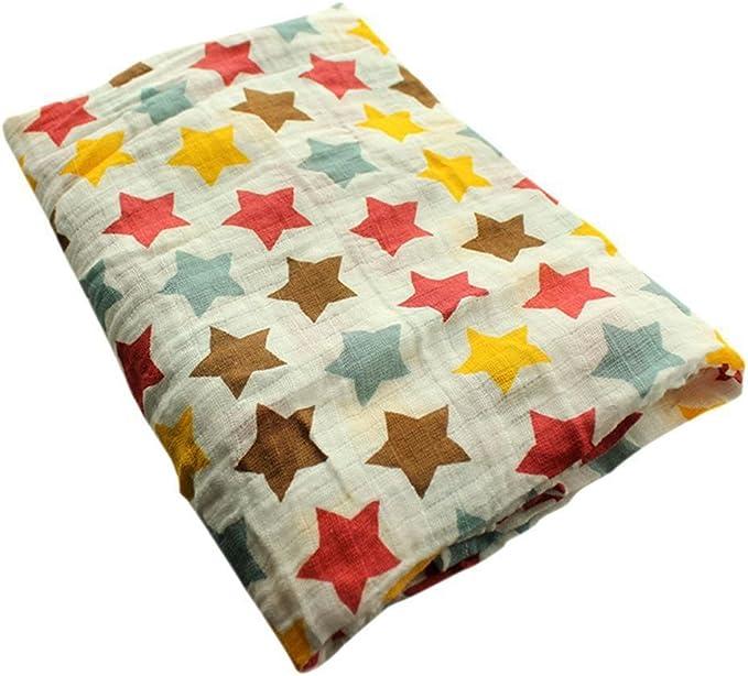 Balai Double Layers of Gauze Cotton Baby Blanket Colorful Newborn Baby Wrap Swaddle Blanket Baby Clothes for Newborn Baby Blankets Cute Fruit Print Gauze Bath Towel