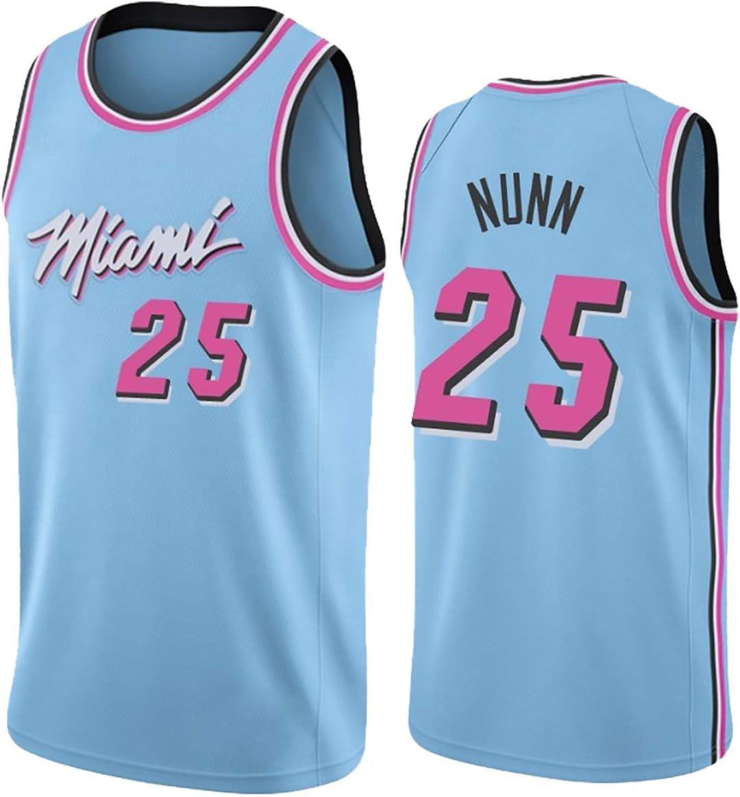Neue Stoff Unisex T-Shirt Uniform MAZOSPORT Herren Basketball Trikots Miami Heat Team 25