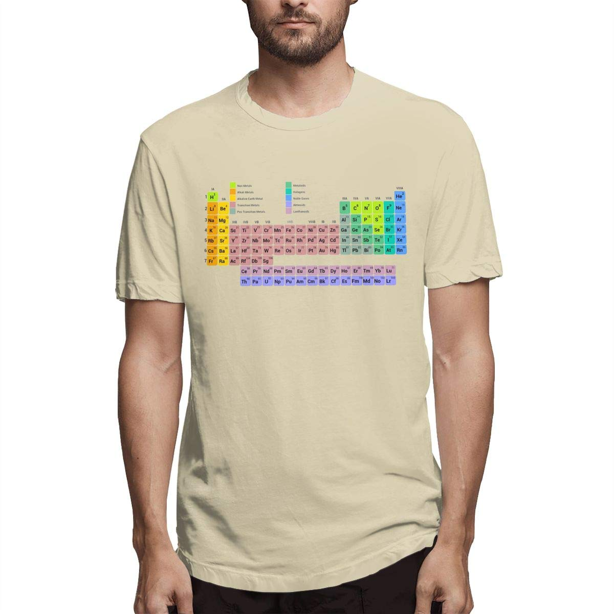 Hot Men Periodic Table Of Elements Diy Fashion Short Sleeve Printed S Comfotable Shirts