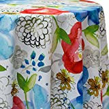 Ultimate Textile Hampton 108 x 156-Inch Oval Printed Tablecloth
