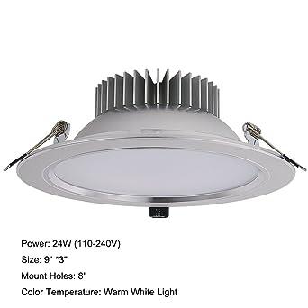 zeetoon Pack de 1 unidades 400 lm ultrafina redondo panel LED luz 40 W incandescente equivalente