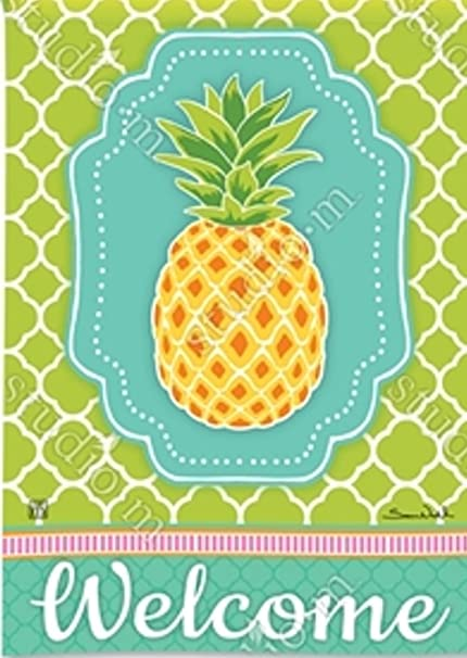 Attrayant BreezeArt Preppy Pineapple Garden Flag 31473