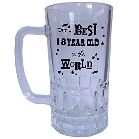 Best 18 Year Old In The World Beer Mug Stein Tankard Glass Unique
