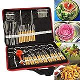 Delaman 80pcs/Set Portable Fruit Vegetable Food Wood Box Peeling Carving Tools Kit
