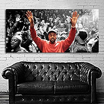 Poster Mural Kanye West Madison Square Garden 24x52 Inch (62x132 Cm) On  Canvas #