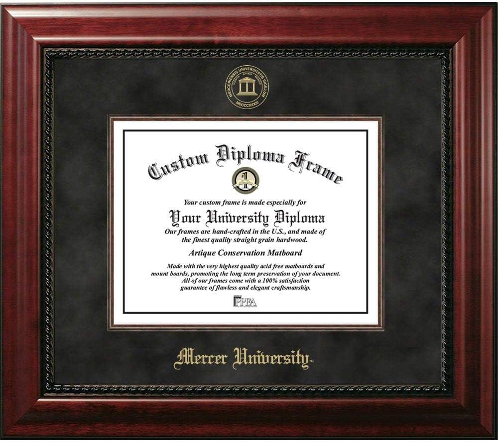 Amazon Com Ocm Diploma Frames Mercer University Bear Displays Diploma Certificate 8 5 X 11 Home Office Office Professional Education Framed Diploma Graduation Gifts Custom Frame Wall Decor