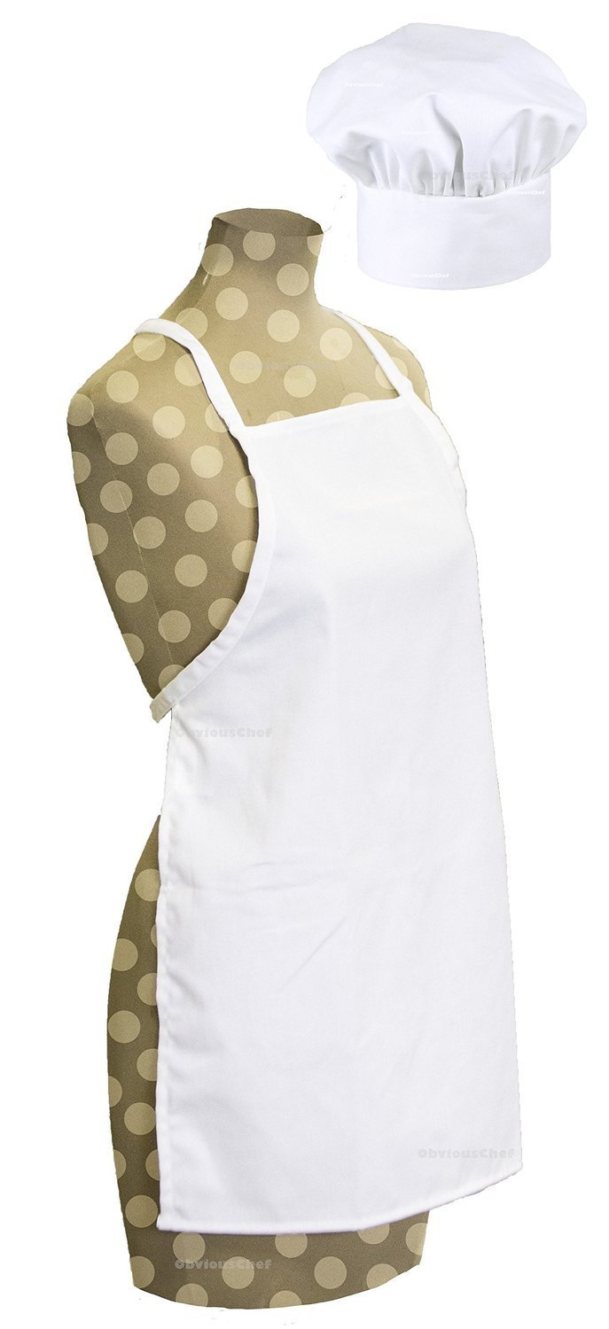 Odelia ObviousChef Kids - Child's Chef Hat Apron Set, Kid's Size, Children's Kitchen Cooking and Baking Wear Kit for Those Chefs in Training, Size (M 6-12 Year, White) by Odelia (Image #3)