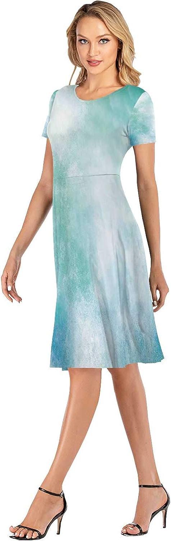 C COABALLA Seamless with Notebook Women's T Shirt Dresses Swing Dress for Wedding,Alarm Clock,S