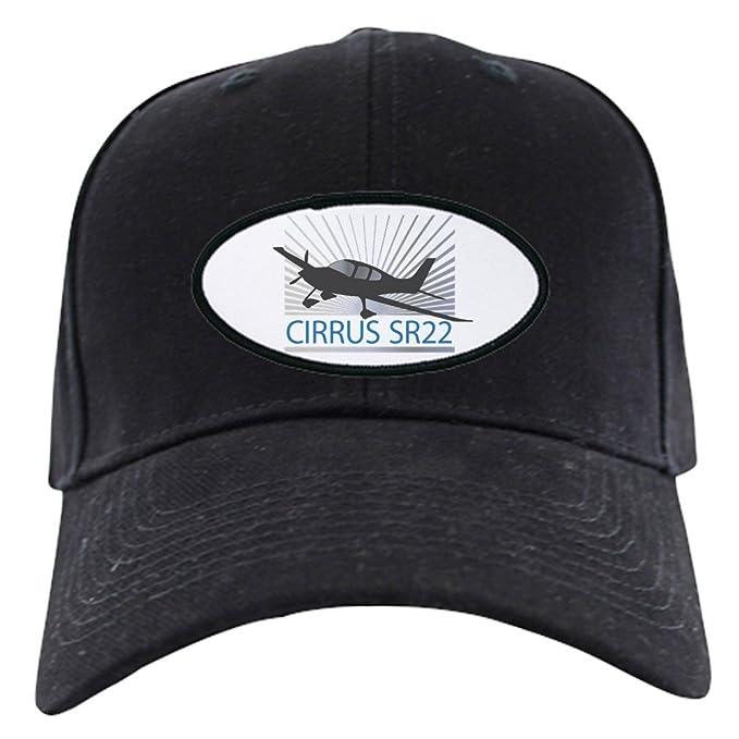 d7ac9fdf49588f Amazon.com: CafePress - Aircraft Cirrus SR22 Black Cap - Baseball ...