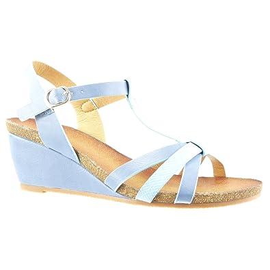 08e957acadc176 Angkorly - Chaussure Mode Sandale Mule salomés Femme Peau de Serpent  lanière Multi-Bride Talon