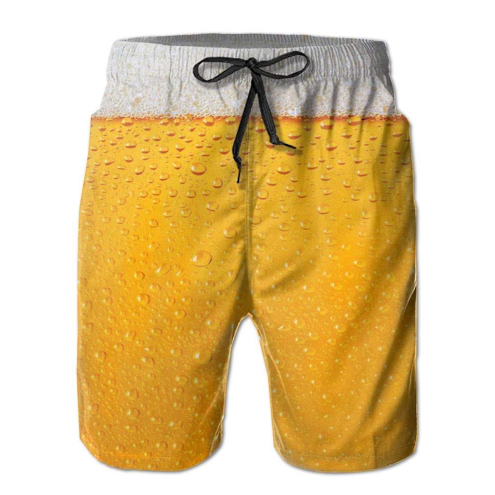 DDYJ Beer Time Boardshorts Mens Swimtrunks Fashion Beach Shorts Casual Shorts Swim Trunks