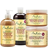 #9: SheaMoisture Strengthen Grow & Restore Combo Bundle, Includes - 16.3 Ounce Jamaican Black Castor Oil Shampoo | 16 Ounce Leave-In Conditioner | 13 Ounce Conditioner | 12 Ounce Treatment Masque