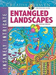 Creative Haven Insanely Intricate Entangled Landscapes Coloring Book (Adult Coloring)