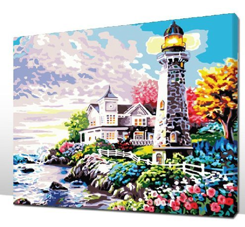 Paint number lighthouse for sale only 3 left at 60 for Oil paintings for sale amazon