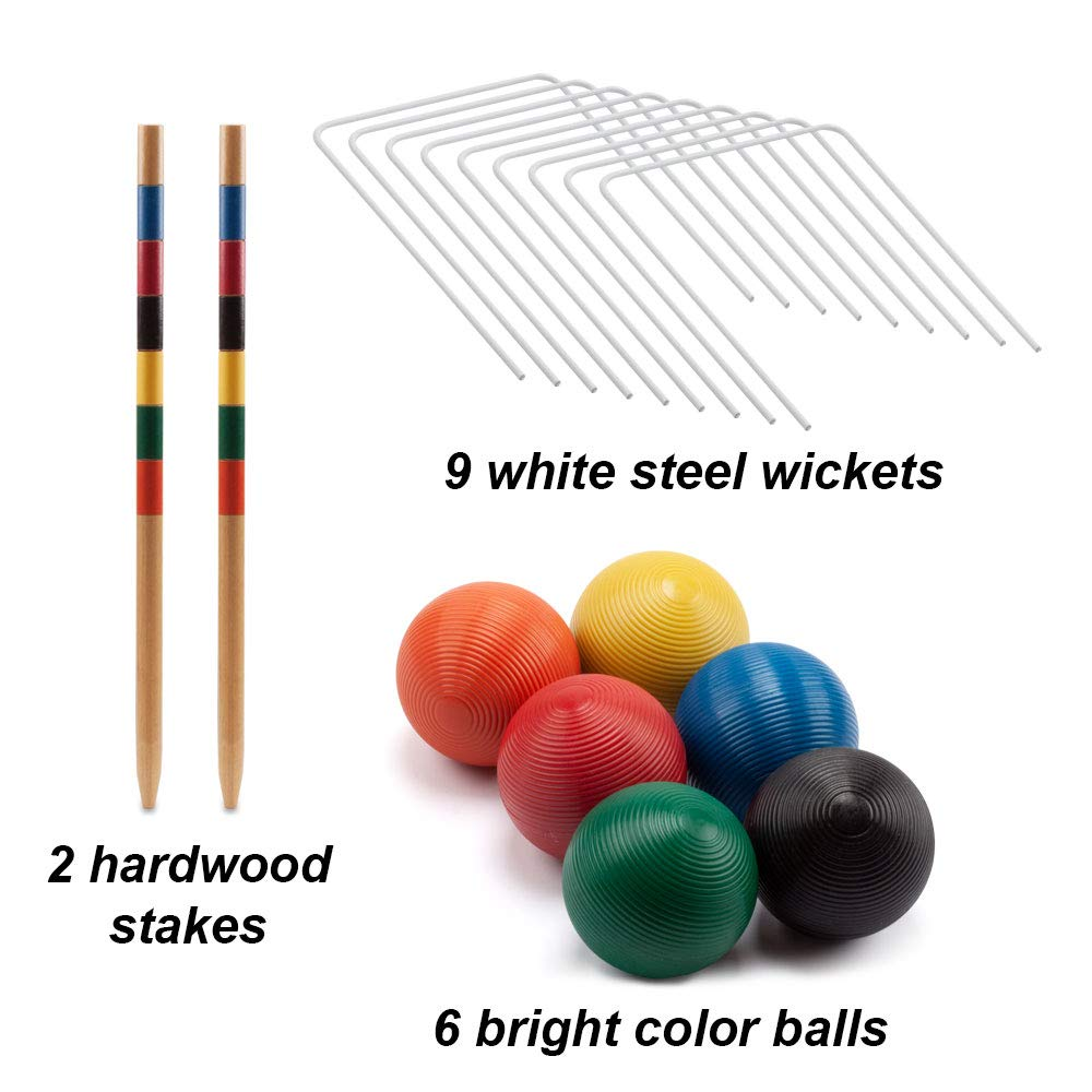 GSE Games & Sports Expert Premium 6-Player Croquet Set for Adults & Kids (Several Styles Available) (Deluxe) by GSE Games & Sports Expert (Image #3)