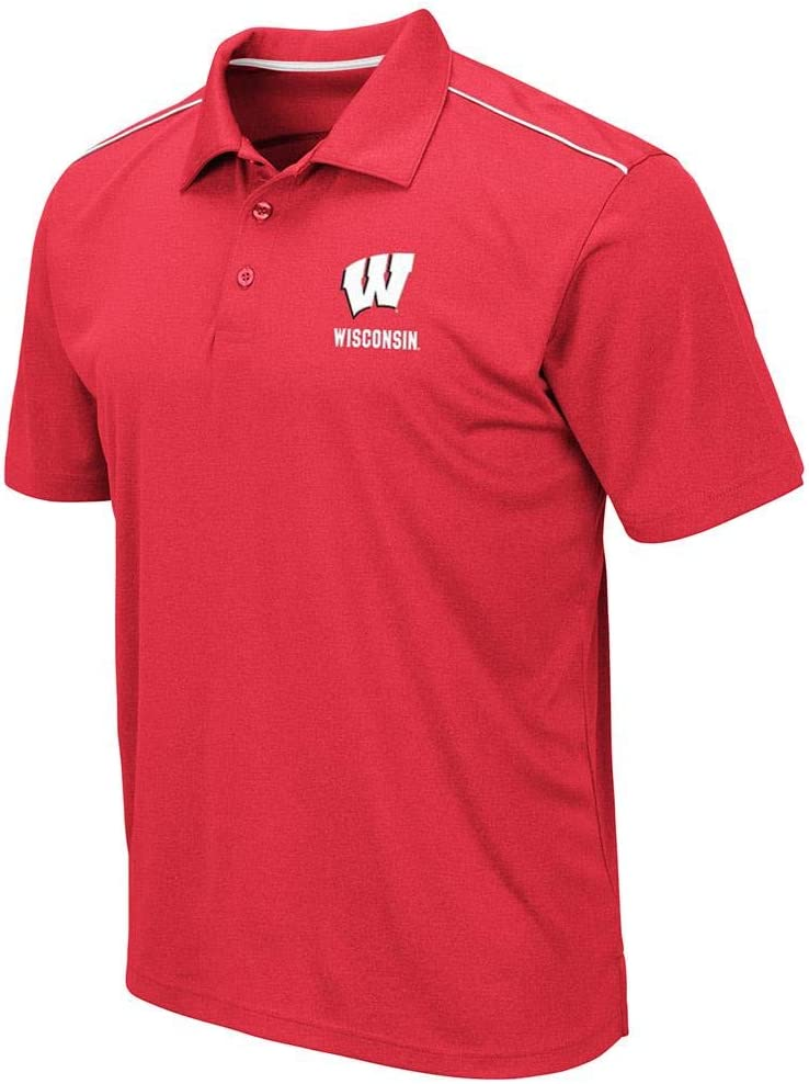 Mens Wisconsin Badgers Eagle Short Sleeve Polo Shirt