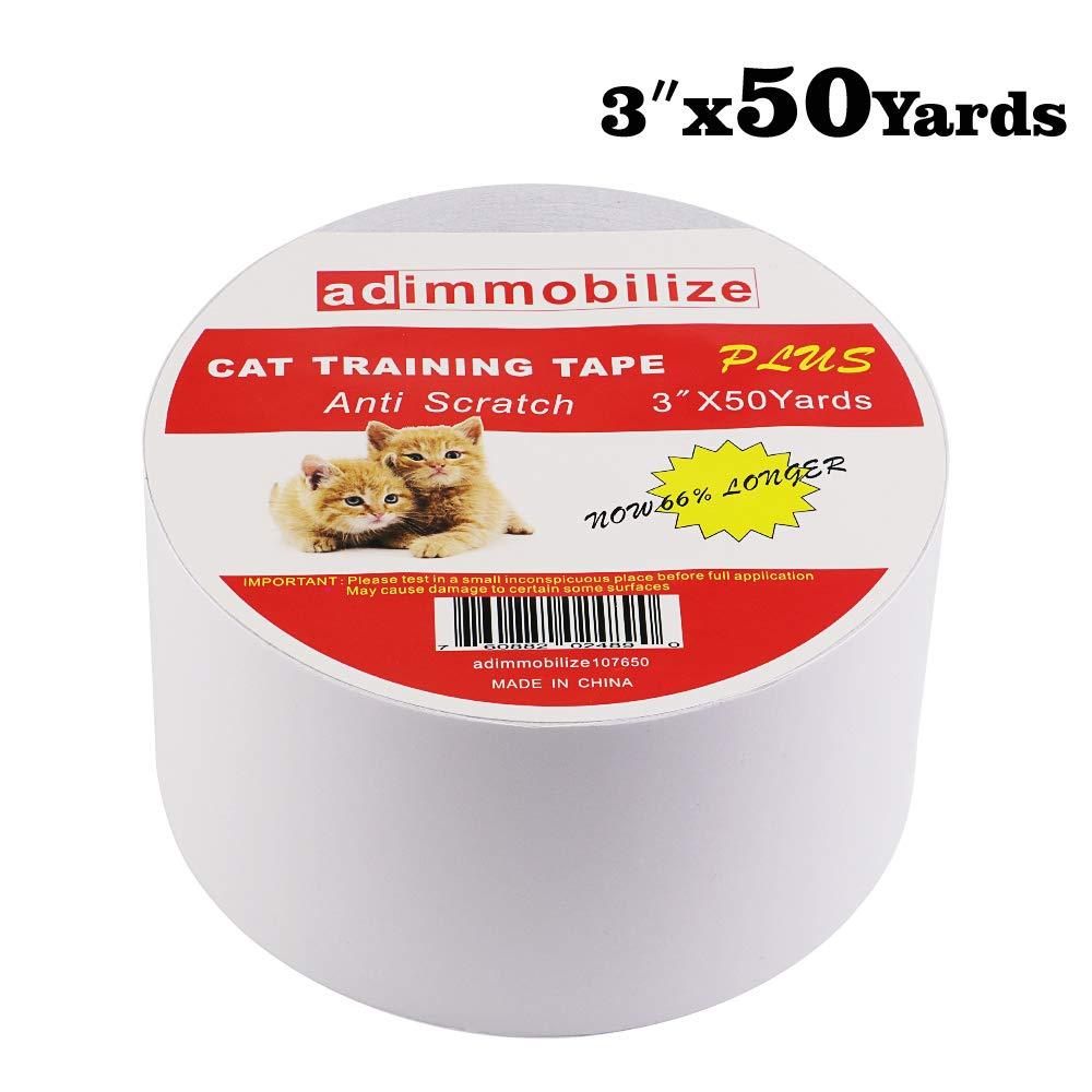 adimmobilize Cat Scratch Deterrent Tape – Anti-Scratch Cat Training Tape for Couch, Furniture, Door, 100% Transparent…