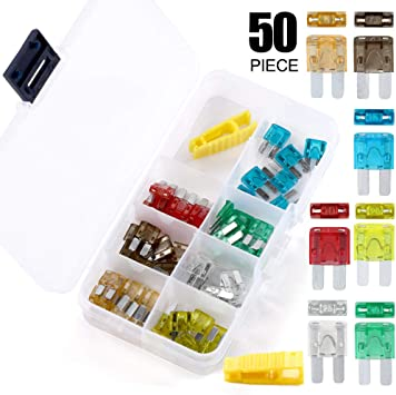 FuseTech Micro2 120 Piece Commercial Assortment 119 Blade Fuses + Fuse Puller