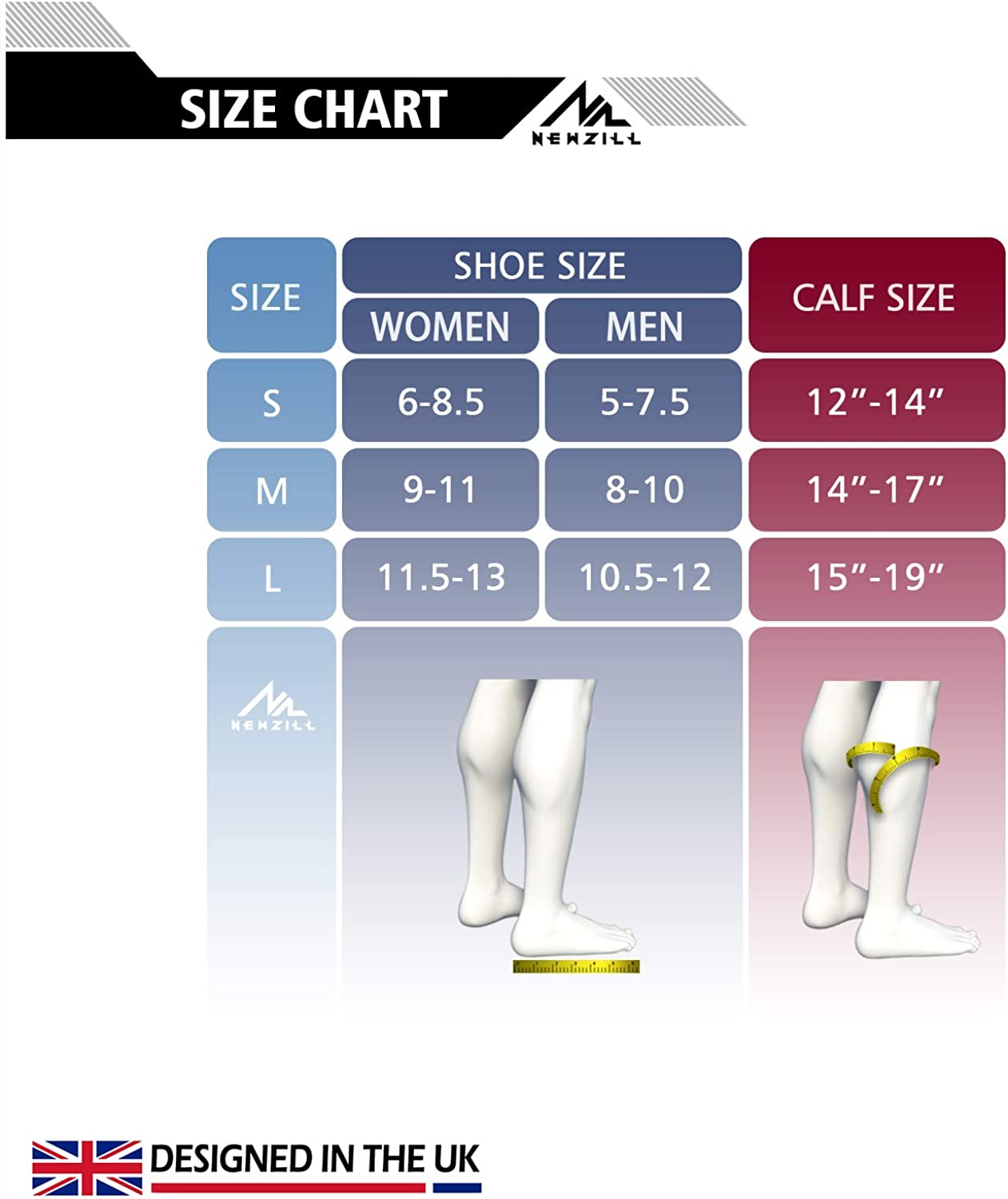 NEWZILL Compression Socks U.S Olympic Fencer Recommend for Men & Women 20-30mmHg: Clothing