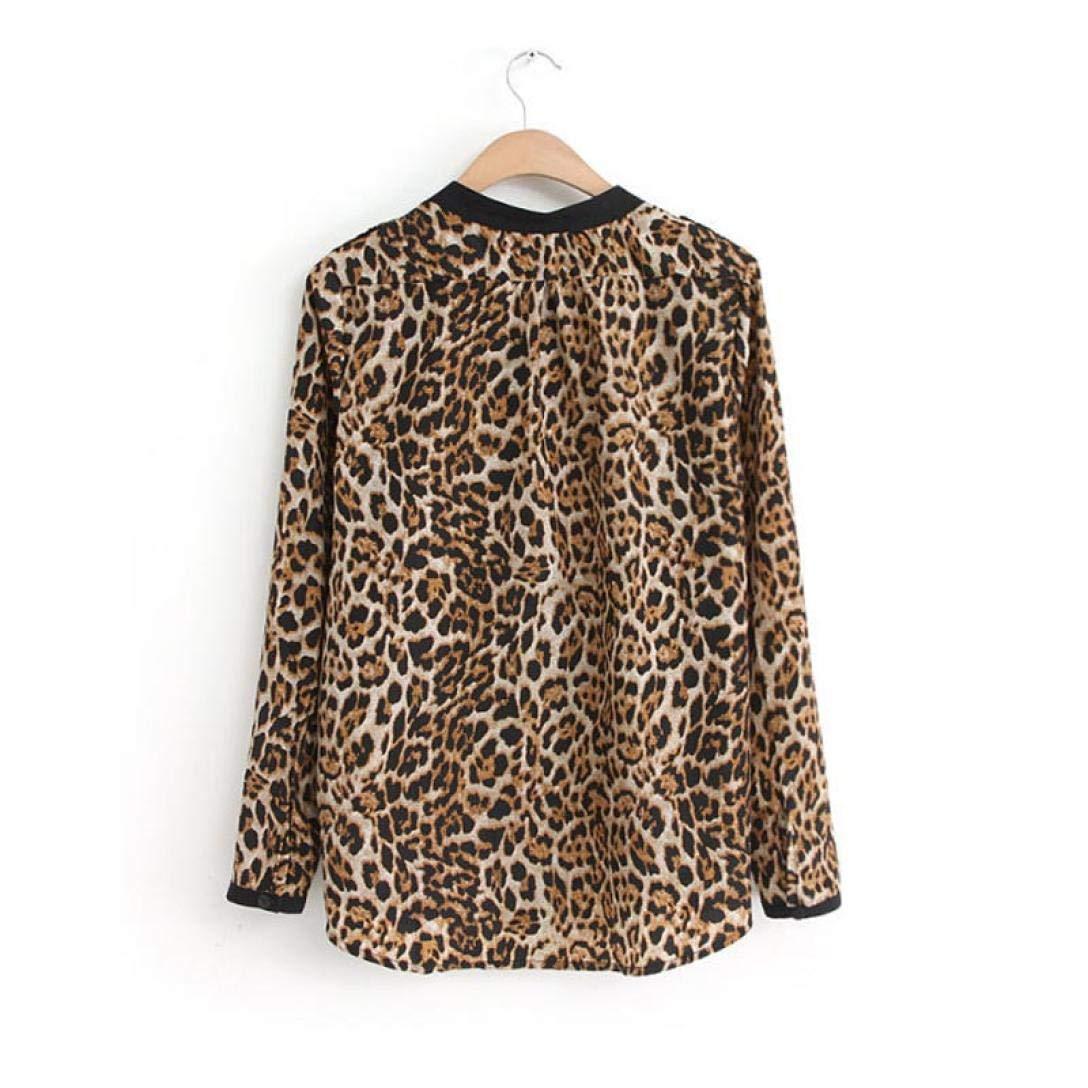 c8d023a203fea2 YULAND Damen T-Shirt, Sommer Tops Bluse Casual Lose Oberteil Frauen Leopard  Print Langarm Chiffon Hemd Dünne Beiläufige Blusen: Amazon.de: Bekleidung
