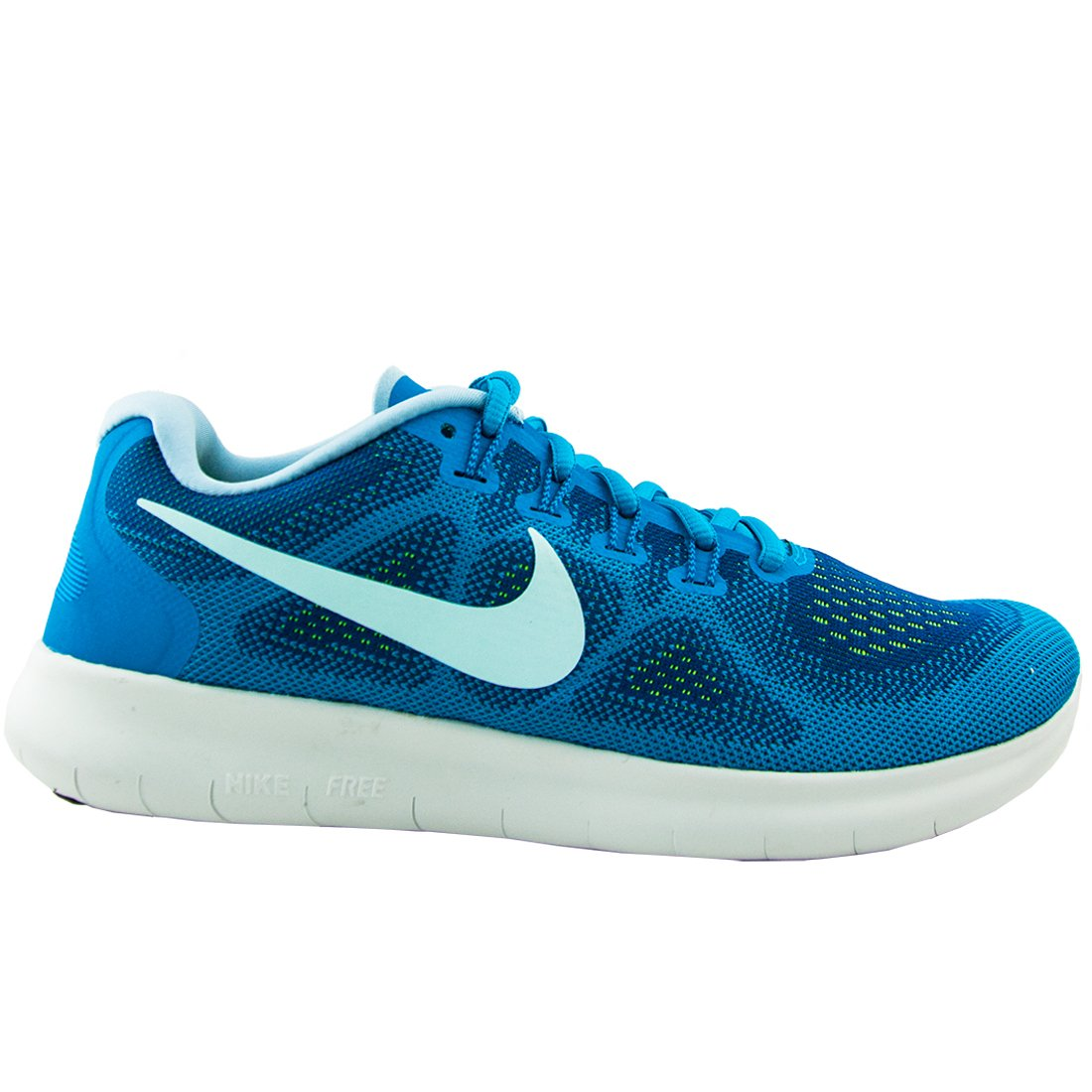 NIKE Womens Free RN 2017 Running Trainers 880840 Sneakers Shoes (US 7, Gym Blue Glacier Blue 401)