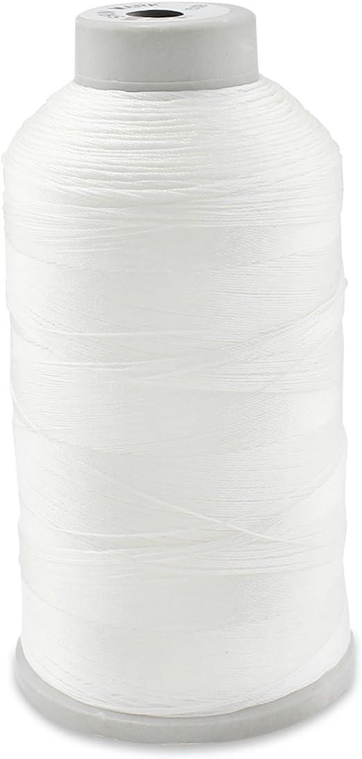 WheateFull Tight Strong Black Bonded Nylon hilo de coser para exteriores, asientos de cuero, bolsas, zapatos, lienzo, tapicería y máquina de coser costura a mano, Color blanco: Amazon.es: Hogar