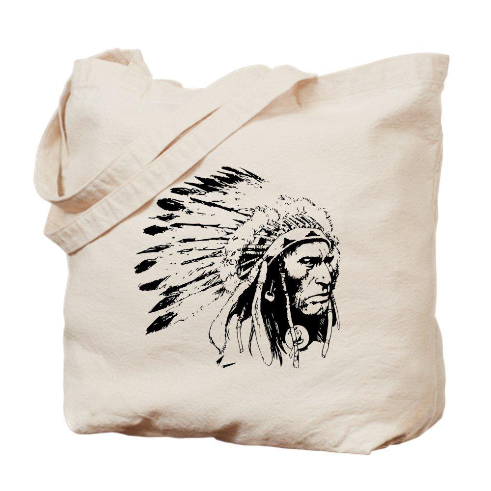 CafePress – Native American Chieftain – ナチュラルキャンバストートバッグ、布ショッピングバッグ B01JOSTMZC