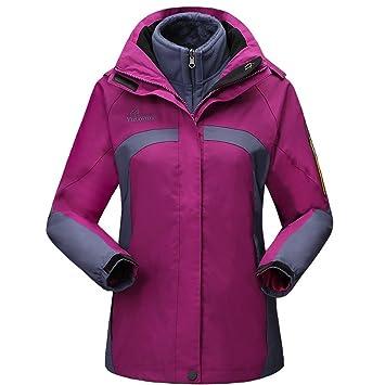 fb4caf622ec58 GITVIENAR femme Veste Outdoor Softshell à capuche Polaire chaud camouflage  Vestes 3 en 1 Imperméable Respirante